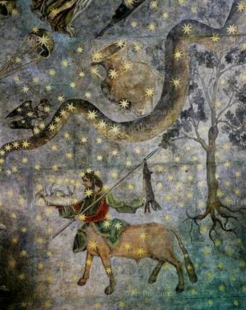Centaur and Hydra Constellation - 16th century cupola of the Old Library, University of Salamanca, Spain