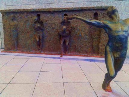 'Breaking the mould' by Zenos Frudakis - Freedom Sculpture -Philadelphia