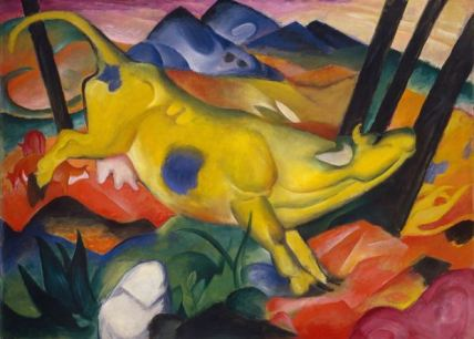 'Yellow Cow' by Franz Marc Chagall