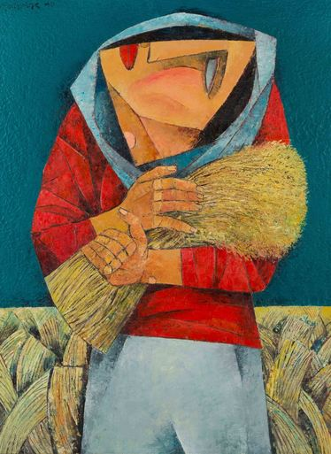 'Harvest' by Ang Kiukok, Philippine artist (1931-2005)