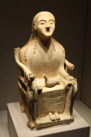 Seated figurine of Demeter goddess of the harvest