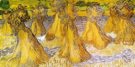 'Sheaves of Wheat' by Vincent Van Gogh (1890)