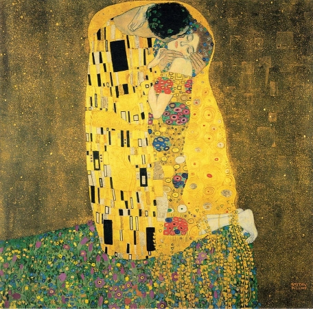 'The Kiss' by Gustav Klimt