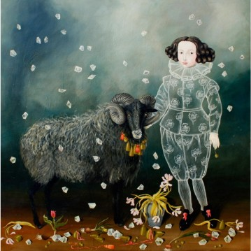 'Boy with Ram' by Anne Siems