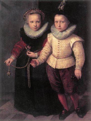 'Portrait of brother and sister' by Cornelis Ketel