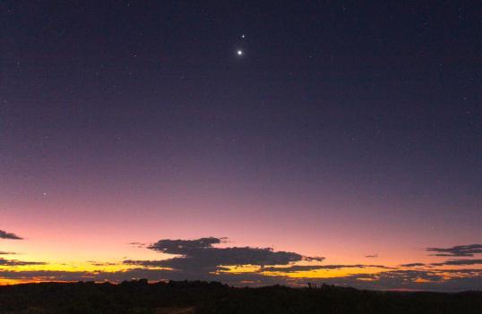 Venus meets Jupiter