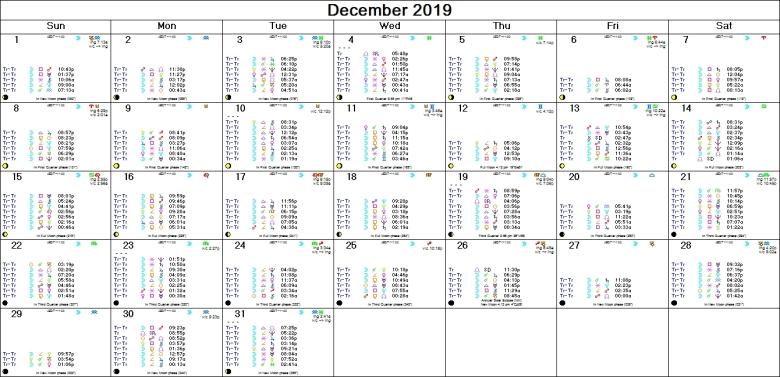 DECEMBER 2019 ASTRO-CALENDAR