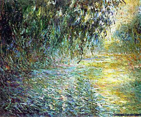 'Morning On The Seine In The Rain' by Claude Monet