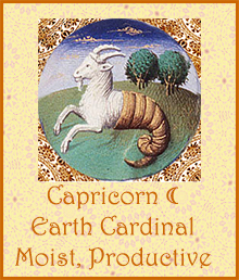 10 Capricorn Moon Moist Productive