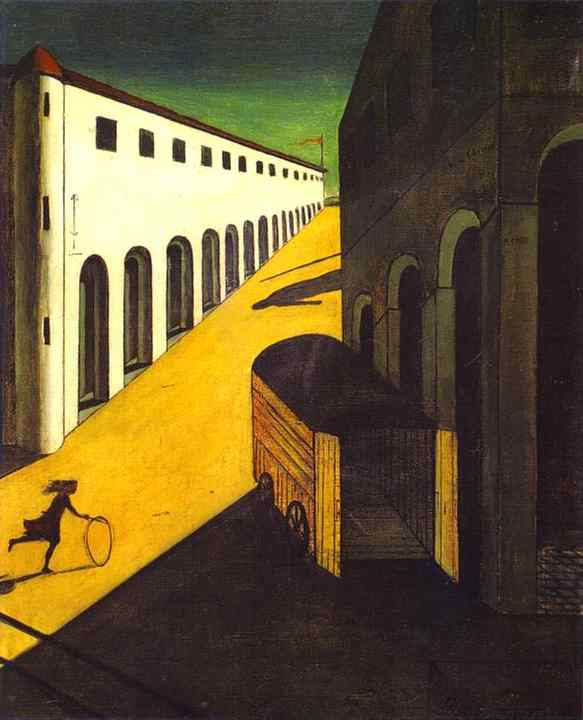 De Chirico's 'Mystery and Melancholy-Of A Street'